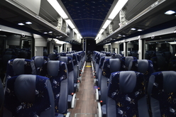 Interior of Motor Coach designed to transport passengers in Wheelchairs